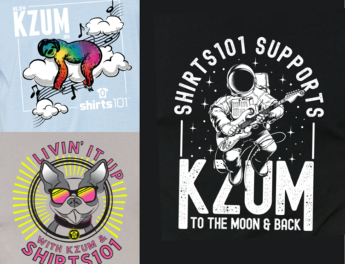 Three brand new KZUM/Shirts 101 T-shirts available in August